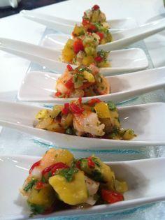 Goya de Puerto Rico - Recetas - Chef Rosita - Coctel de Camarones conMango
