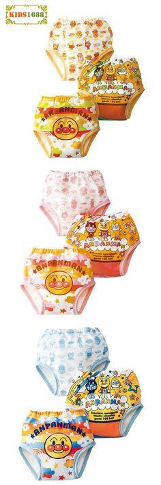 [Visit to Buy] 3pcs Baby Training Pants Cartoon Anpanman pattern Baby Diaper Reusable Children Underwear Breathable Baby Briefs Training Pants #Advertisement