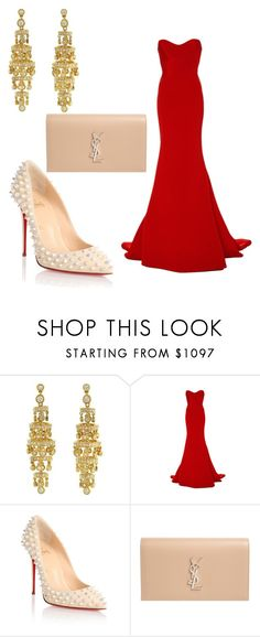 """""""Untitled #1965"""" by styledbytjohnson on Polyvore featuring Romona Keveža, Christian Louboutin and Yves Saint Laurent"""