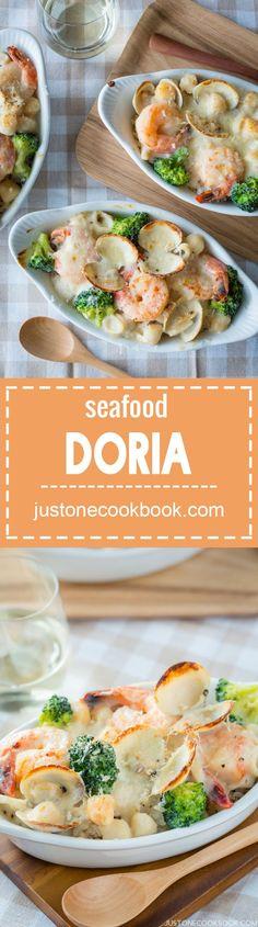 Seafood Doria (Seafood Rice Gratin) | Easy Japanese Recipes at http://JustOneCookbook.com