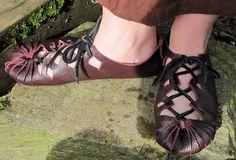 Jels: Nordic Bronze Age Handmade Leather Shoe. $70.00, via Etsy.