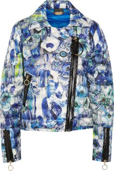 JUST CAVALLI Quilted Printed Shell Jacket. #justcavalli #cloth #jacket
