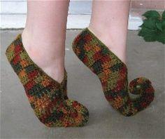crochet elf slipper