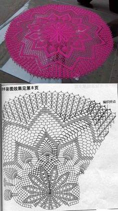 Luty Artes Crochet Centro De Tapetes Crochet Crochet Doilies y Crochet Tablecloth Pattern, Crochet Doily Diagram, Crochet Doily Patterns, Thread Crochet, Crochet Motif, Knitting Patterns, Crochet Carpet, Crochet Home, Diy Crochet