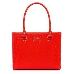 Kate Spade Wellesley Texture Leather Quinn Bag Purse Tote Geranium