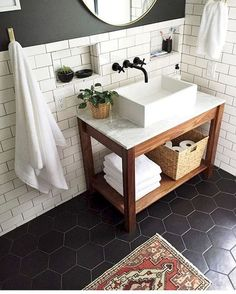 110 spectacular farmhouse bathroom decor ideas (80)