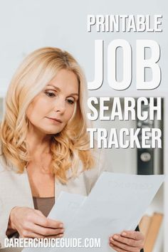 Keep your job hunting organized with this printable job search tracker