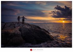 Sunset Lighthouse park engagement by Vancouver wedding photographer Jozef Povazan Photography