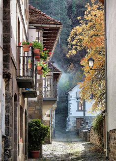 streets of Ochagavia, Spain (by toyaguerrero) Beautiful Streets, Beautiful World, Beautiful Places, Oh The Places You'll Go, Places To Travel, Places To Visit, Basque Country, Spain And Portugal, Spain Travel