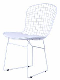 White Wire Dyson Chair   White   Modern Furniture • Brickell Collection