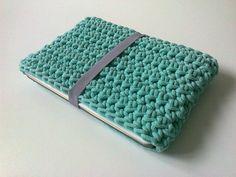 cover, case laptop, crochet bag, crochet case, laptop, mcbook,