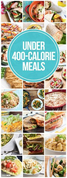 RECIPES UNDER 400 CALORIES: 40 dinners your family will LOVE! Which recipe are you most excited to try? Womanista.com