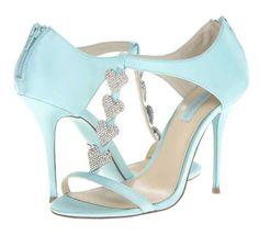 Bridal Shoes | Bestey Johnson 'Blue' heart front t-bar sandals >> Shoeperwoman