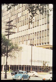 Banco Sul Americano - Av Paulista / Rua Frei Caneca - arquiteto Rino Levi (anos 60)