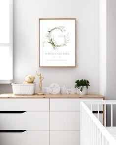 Initial Print Floral Print Botanical Kids Print Custom name | Etsy Baby Boy Nursery Decor, Nursery Room Decor, Boys Room Decor, Nursery Wall Art, Kids Room, Navy Nursery, Newborn Nursery, Baby Room, Nursery Prints
