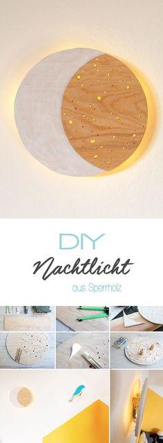 Dani von Gingered Things zeigt dir auf ihrem DIY Blog wie man aus einer Sperrholzplatte ganz esay ein tolles Nachtlicht für das Kinderzimmer basteln kann. Wunderschöne Deko für Jungs und Mädchen.