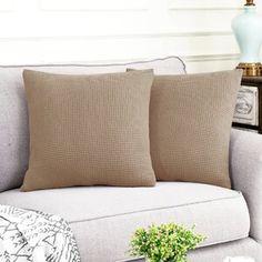 Ebern Designs L-Shaped Right 2 Piece Box Cushion Sofa Slipcover Set & Reviews | Wayfair Sectional Couch Cover, Couch Covers, Cushions On Sofa, Throw Pillows, L Shaped Sofa, Box Cushion, Grid Design, Slipcovers, Furniture