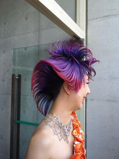 Avant Garde Hair, Extreme Hair, Purple Ombre, Hair Designs, Competition, Hair Color, Hairstyles, Japanese, Night