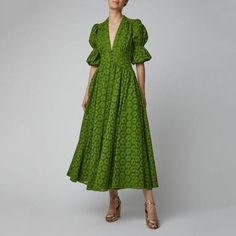 Cult Gaia Willow Cotton Lace Maxi Dress Click product to zoom Casual Dresses, Fashion Dresses, Summer Dresses, Dresses Dresses, Green Dress Casual, 1950s Dresses, Dresses Online, Vintage Dresses, Latest Fashion For Women