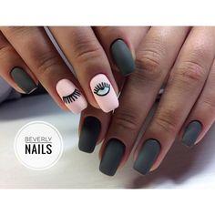 Trendy Ideas For Nails Acrilico Elegantes Mate Elegant Nail Art, Elegant Nail Designs, Matte Nails, My Nails, Nails Studio, Semi Permanente, Romantic Nails, Minimalist Nails, Luxury Nails