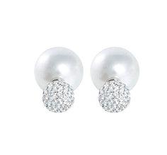 Pearl & Pavé Double Stud Earrings #TraciLynnJewelry