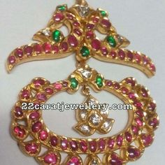 Trendy Pendant Sets in Ruby