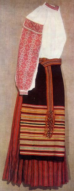 FolkCostume&Embroidery: Costume of West or Volyn' Polissia, Ukraine