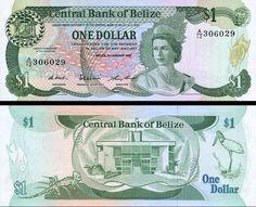 Bankovka 1 Dolár Belize 1987 P46c UNC