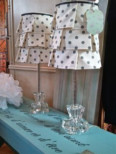 Love these ruffled lampshades by Suite Pieces