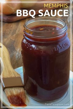 This Memphis BBQ sauce recipe is the perfect finishing sauce for ribs, pulled pork and chicken. It's tangy and thin, not sticky and sweet, with just the right amount of spicy kick! Memphis Bbq Sauce Recipe, Homemade Bbq Sauce Recipe, Barbecue Sauce Recipes, Bbq Sauces, Smoker Recipes, Barbeque Sauce, Molasses Bbq Sauce Recipe, Sweet And Spicy Bbq Sauce Recipe, Pulled Pork Sauce Recipe