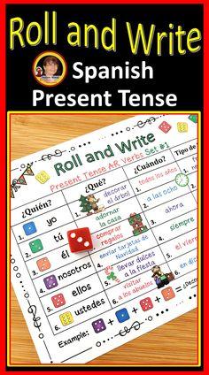 Spanish Christmas Activities | Spanish Christmas Verb Activities