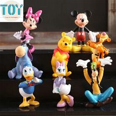 Find More Action & Toy Figures Information about New 8 PCS Mickey Minnie Mouse Clubhouse Donald Duck Goofy Dog Daisy 5cm…