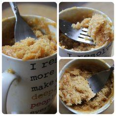 Mug Peanut Butter Cake