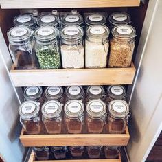 Isn't this pantry to die for? We're still in the pantry this week, so keep on sharing. Kitchen Pantry, Kitchen Decor, Kitchen Ideas, Open Pantry, Pantry Cabinets, Pantry Ideas, Kitchen Quotes, Pantry Organization, Organization Ideas