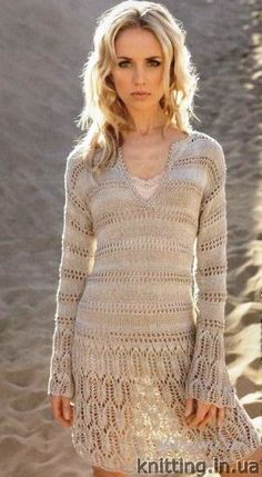 Summer dress with long sleeves