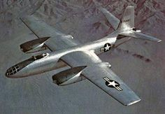 """North American B-45 """"Tornado"""" 1947  North American B-45 Tornado was the United States Air Force's first operational jet bomber"""