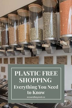 Plastic free shopping in a zero waste store can seem daunting if you've never done it before. Here's our ultimate guide to the ultimate in eco shopping! Create A Shopping List, Plastic Shop, Ice Cream Tubs, Zero Waste Store, Recycled Jars, Plastic Organizer, Clean Life, Spice Jars, Sustainable Living