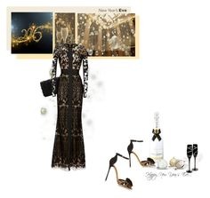"""""""Happy New Year's Eve"""" by theitalianglam ❤ liked on Polyvore featuring MoÃ«t & Chandon, Elie Saab, Sergio Rossi, ElieSaab, SergioRossi, nyestyle and bytheitalianglam"""