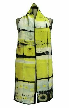 Silk Discharge Scarf at the Textile Museum Shop. crepe de chine silk scarf handmade by Betsy Giberson. Shibori Tie Dye, Textiles, Silk Art, Scarf Design, How To Dye Fabric, Silk Painting, Mellow Yellow, Silk Scarves, Diy Clothes