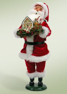Santa with Gingerbread House