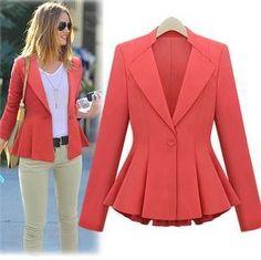 $21. New arrival women's suit coat 2014 spring and autumn Fashion European style Slim thin hem suit long sleeve jacket blazer skirt-inBlazer & Su...