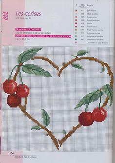 Cross-stitch Heart-shaped Cherry Branch...   Gallery.ru / Фото #20 - 765 - Yra3raza