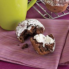 Cherry-Chocolate Muffins Recipe  http://www.myrecipes.com/recipe/cherry-chocolate-muffins-10000001875321/