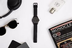 The matte all black watch from our theory of watches.