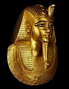 *EGYPT ~ King of the pharaoh Psusennes Gold burial mask-Discovered in 1940 by Pierre Montet