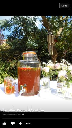 Hire our original Kilner drinks dispenser. Suitable for a variety of events