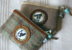 zippered pouches from old suits - cute