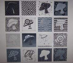 16 Squares. Displaying all of the Elements & Principles of Design