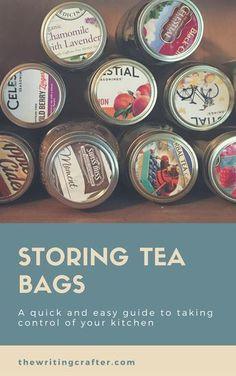 Kitchen Organization Tea - How to Store Your Tea Bags... #KitchenOrganization #Tea