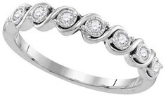 .16 Carat Brilliant Round Diamond Ring Wedding Band